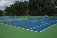 tennis courts at Legend Oaks Plantation