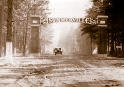 Summerville, SC sign in Summerville's past